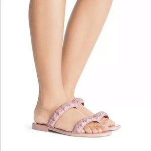 Stuart Weitzman Dual strap Rosita slide Sandal 7.5